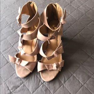 Blush color heels